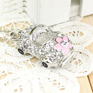 Car Jewelry USB Drive Flash Car Key Chain Usb Pen Drive 8GB 16GB 32GB 64GB Pendrive Creative Gift U Disk Crystal Memory Stick