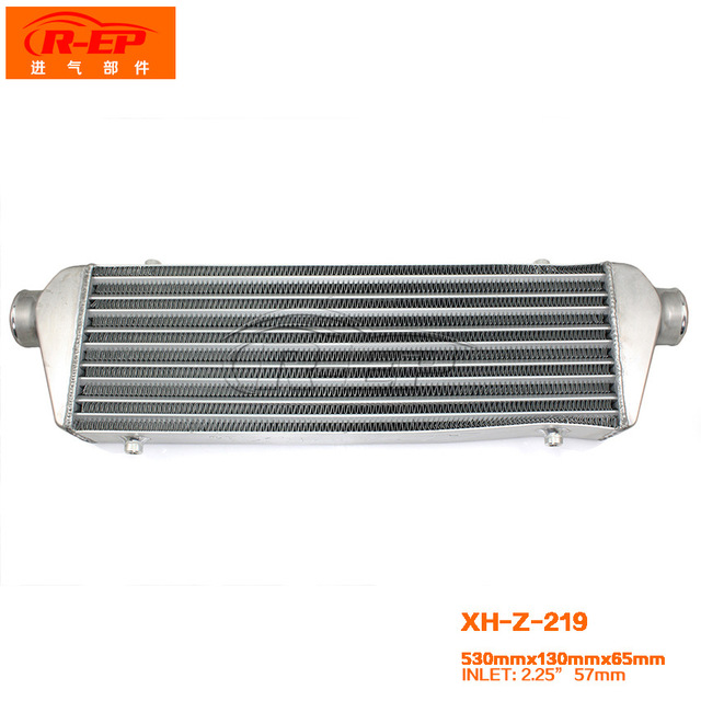 Core Size 550x140x65mm In Outlet2 25inch Aluminum Intercooler Universal Type Front Mount Bar