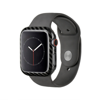 MCASE 2019 Luxury Ultra Thin Real Carbon Fiber for Apple Watch Series 4 44mm Slim Snug Cover Frame