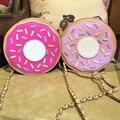 Diseño único encantadora forma personalizada a estrenar mini donuts de hombro de la cadena ladies embrague bolsa bandolera mensajero