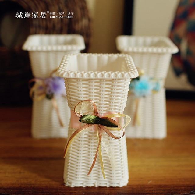 High Grade Simulation Flower Plastic Flower Vase Decorative Home