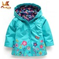 Monkids Autumn Jacket for Girls Fashion Print Flower New Children Trench Coat Girls Outerwear Warm Kids Jacket Girls Spring