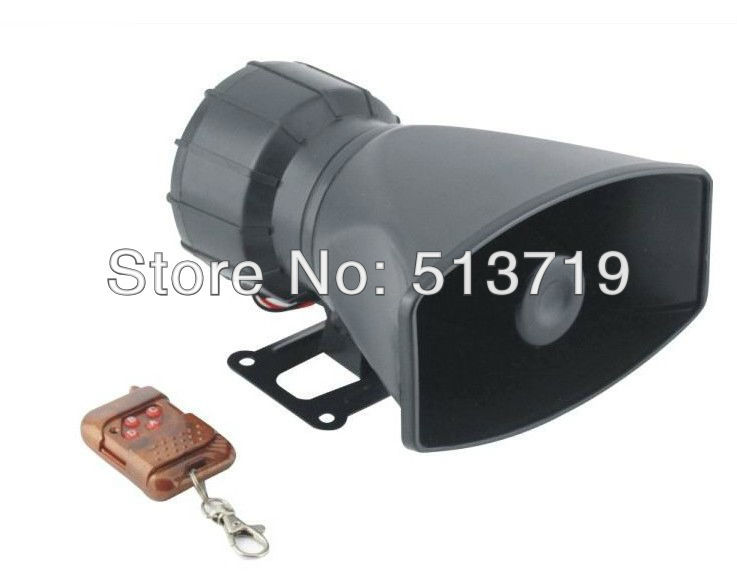 Free shipping New Wireless remote control Loud Horn/Siren Max Car Van Truck 12V 4 Sounds