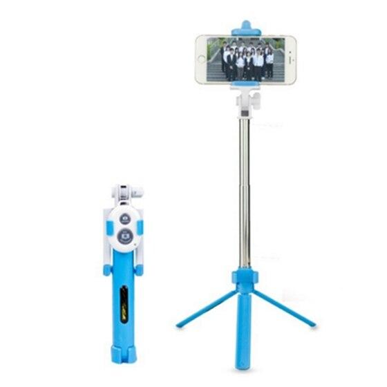 Extensible Poche Selfie Auto Téléphone Bâton Manfrotto Trépieds Bluetooth Déclencheur À Distance Bleu