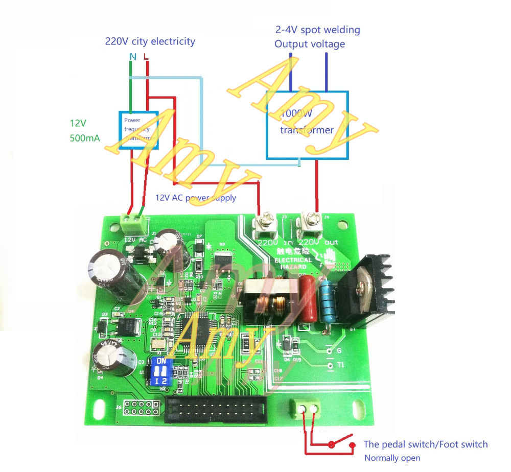 Jst41z Battery Spot Welding Control Board 16 Single Chip Wiring Diagram Equipped With Bta24 800 Or Bta140800 Bta41 600 Low Power Htb1xmegrfxxxxcbxxxxq6xxfxxxq