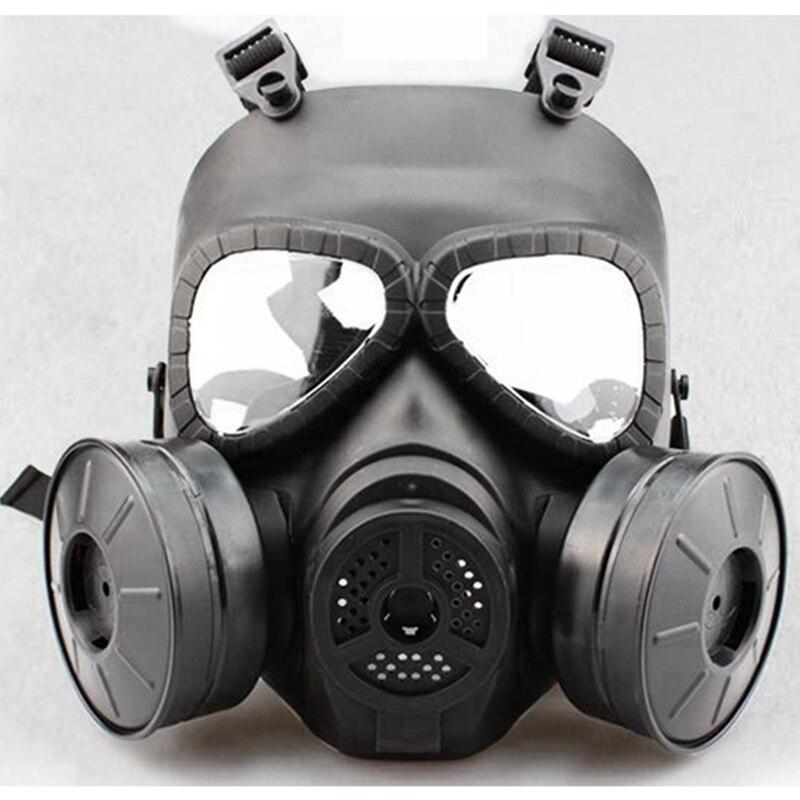 Máscara Completa Airsoft Con Ventiladores De Doble Filtro, Protector Facial De Calavera Para Polvo Cs Edición Al Aire Libre Deporte Táctica Paintball FáCil De Reparar