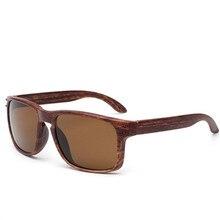 Madera gafas de Sol de Los Hombres Gafas de Sol Reflectantes Cuadrados Al Aire Libre Gafas de sol Gafas gafas De Sol Oculos