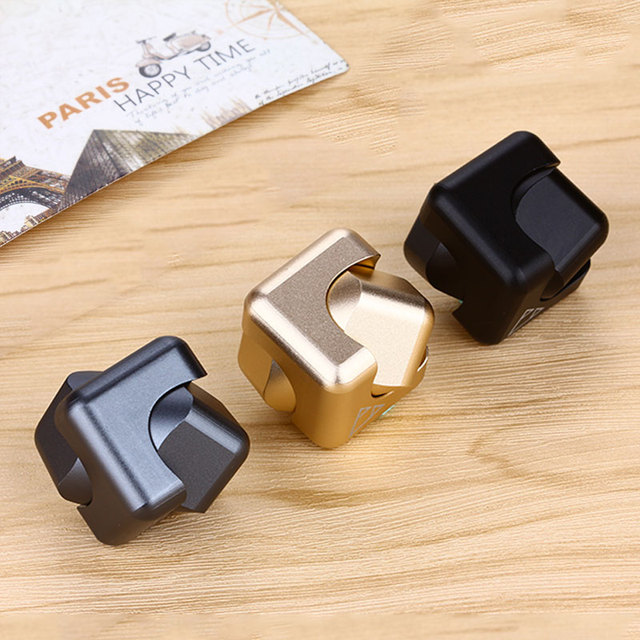 2017 New Square Spinner Fidget Toy EDC Hand Spinner Aluminium 688 Hybrid Ceramic Bearing Spinner Hand For Autism and ADHD