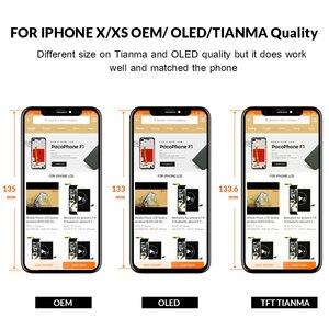 Image 3 - Qualidade superior display oled para iphone x xs xsmax xr lcd digitador da tela com tela de toque preto para iphone x display + dom gratuito