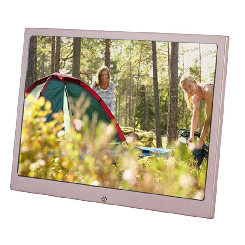 12 polegada de metal lcd digital photo frame hd 1280x800 álbum eletrônico usb imagem digital leitor vídeo música calendário relógio