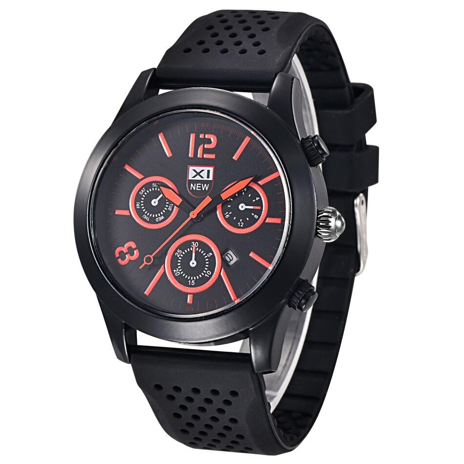 4adde6fc2a4 Relogio masculino montre homme reloj hombre de moda data relógio de quartzo  xinew homens relógio de silicone relógios de pulso homens relógios 2017  quente