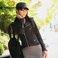 2016 Горячей Продажи женщин кожаная куртка сладкий моды карман мотоцикл кожаная куртка 2 цвета jaqueta де couro com pelefor размер SL