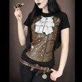 Camiseta Mujer Горячие Женщины Футболку Поддельные Татуировки Цифровой 3D Печать Милый Сексуальный Эластичный Круглым Воротом С Коротким Рукавом Хорошее Качество