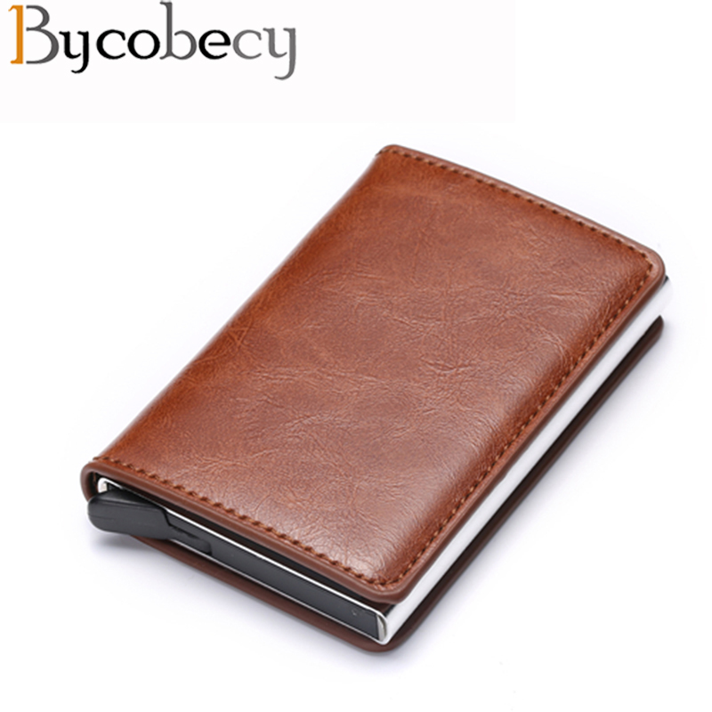 Bycobecy Rfid Women Wallets Card Holder Money Bag Male Short Leather Wallet Small Slim Smart Thin Purse drop s