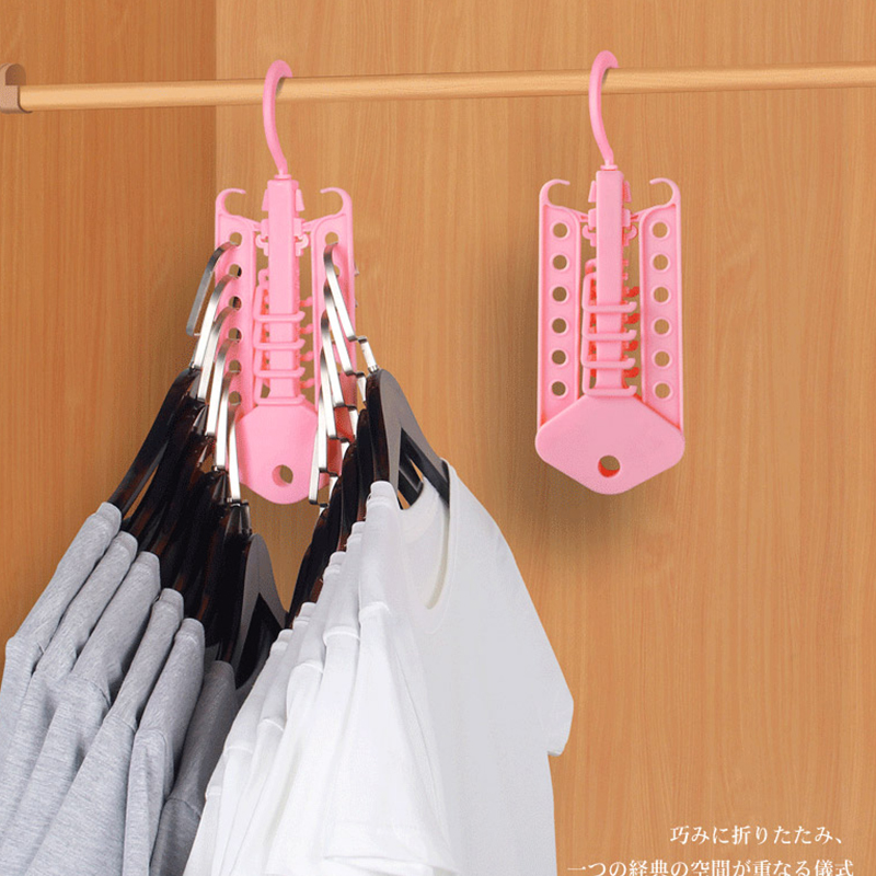1PC Creative Multifunction Circle Clothes Hanger Plastic Scarf Hangers Closet Organization Wardrobe Finishing Rack Space Saver in Storage Holders Racks from Home Garden