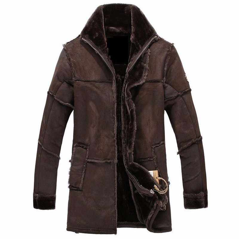 Winter Thick Warm Mens Faux Fur Coats Velvet Streetwear European and American Style Mens Fur Coats Overcoats Plus Size XXXL W021