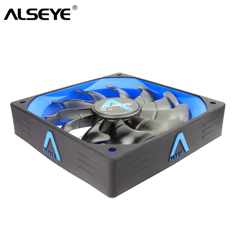 ALSEYE Computer Fan Cooler 120mm/80mm/90mm, LED 3pin / 4pin DC 12V Fan, Air Flow and Air Volume Comprehensive Cooling Fans original delta aub0812vhb 8015 8cm 80mm dc 12v 0 30a slim chassis power supply cooling fans cooler