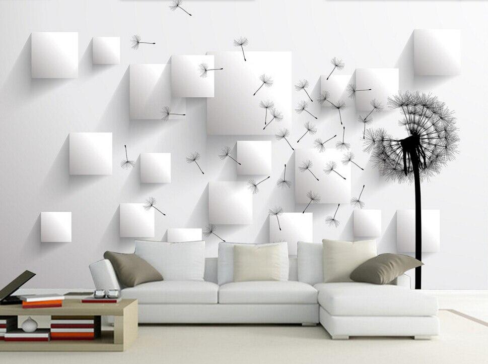 US $12.0 60% OFF|Benutzerdefinierte tapete wandbild blumen, Löwenzahn  perspektive, 3D für moderne wohnzimmer schlafzimmer TV hintergrund ...