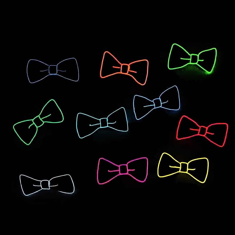 Moda Homens Gravata Luminosa Neon Fio EL LED Piscando Light Up Bow Tie Para Cosplay Clube Evening Partido Decoração FDC99
