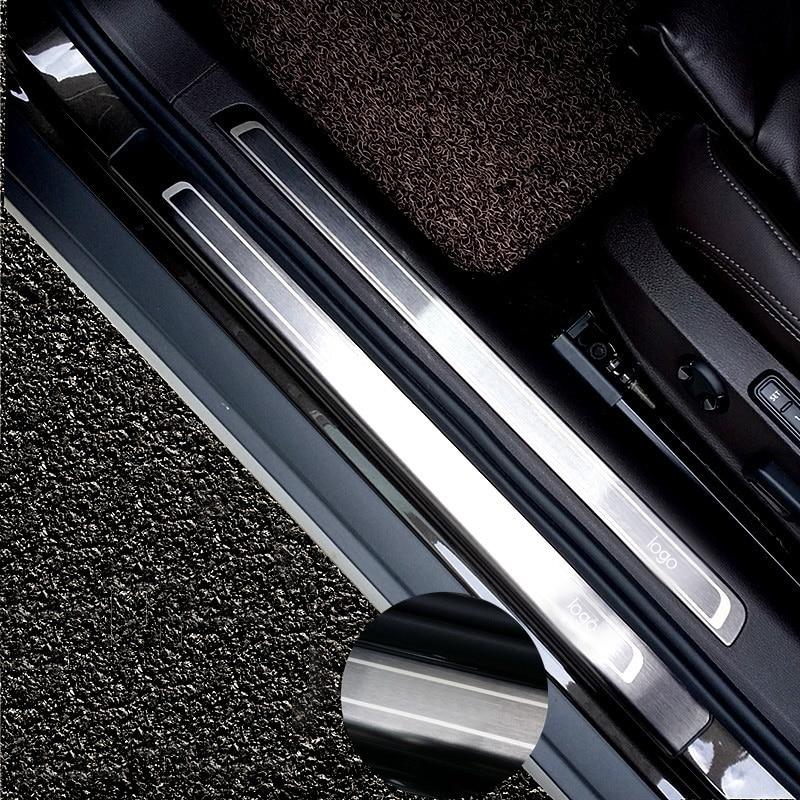 For Volkswagen Passat B8 Variant car stickers modified stainless steel door sill body bright strip decorative strip door sill
