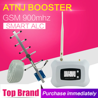 ATNJ GSM 900 Booster GSM Cell Phone Signal Booster GSM 900mhz Mobile Phone Repeater Cellular Amplifier Yagi Antenna 20m Cable