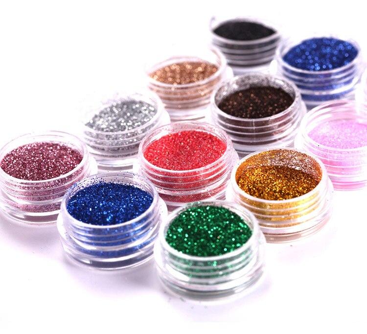 Fashion 12 Bling Metal Glitter Nail Art Аксессуарлар - Маникюр - фото 2