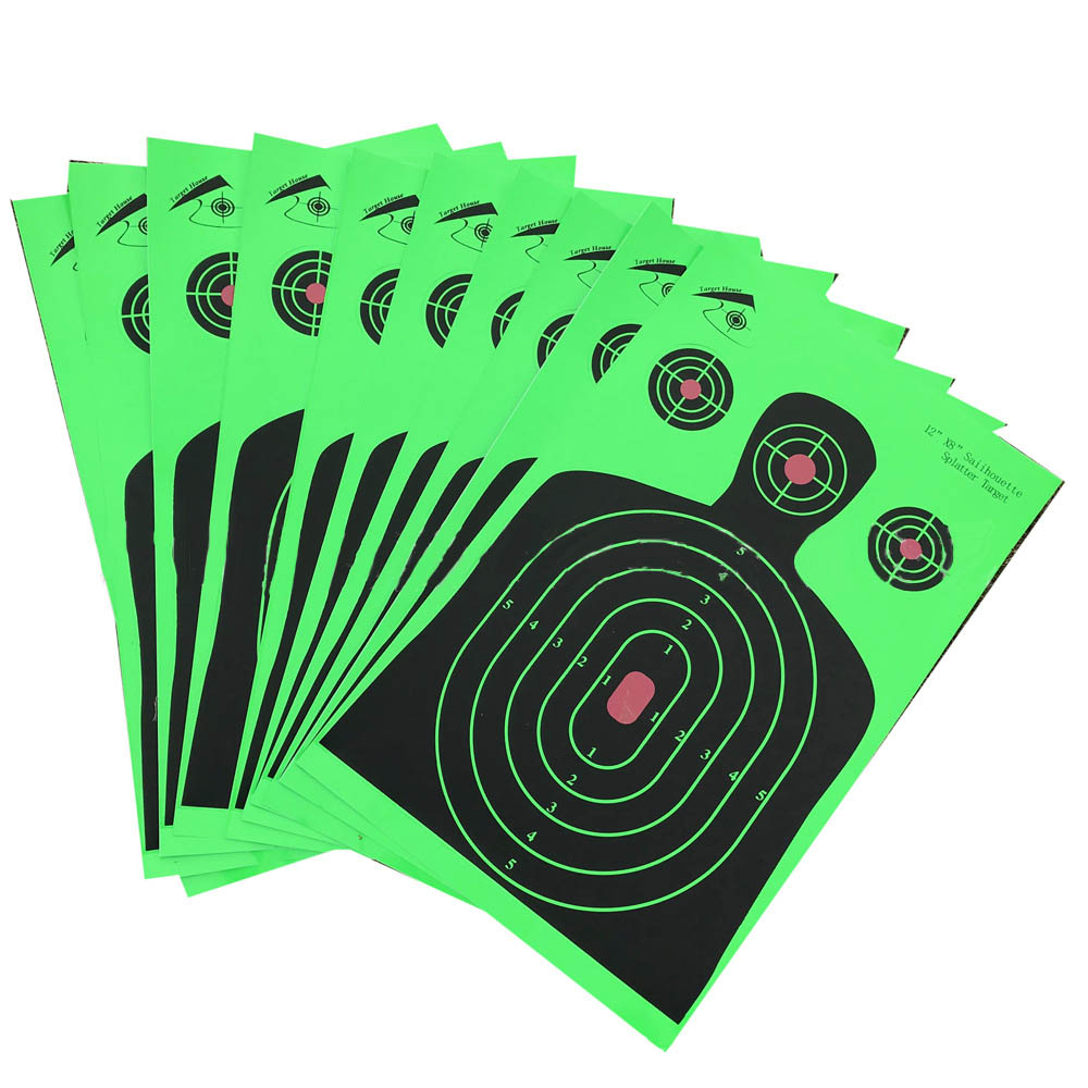 10 Pack Realistic Targets for Shooting paster sticker paper,roll packaged not folded