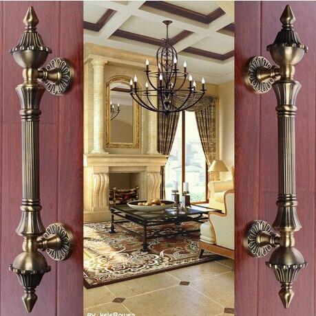 2 pcs free shipping Door shake handshandle european-style villa door shake handshandle archaize wooden door handle  KD-8008-1200