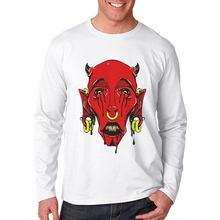 New Arrival Horror Men T Shirt Demon Printed Breathable Cotton O Neck T-Shirt Male Tops Popular  Long Sleeve Mens Tee Shirts
