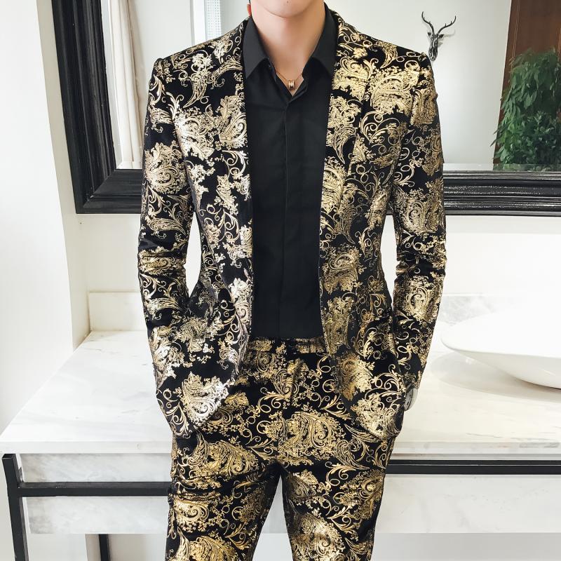 X US 12 NEW $1000 EXTE Suit Pants Blazer Two Piece Black Cotton Stretch IT46