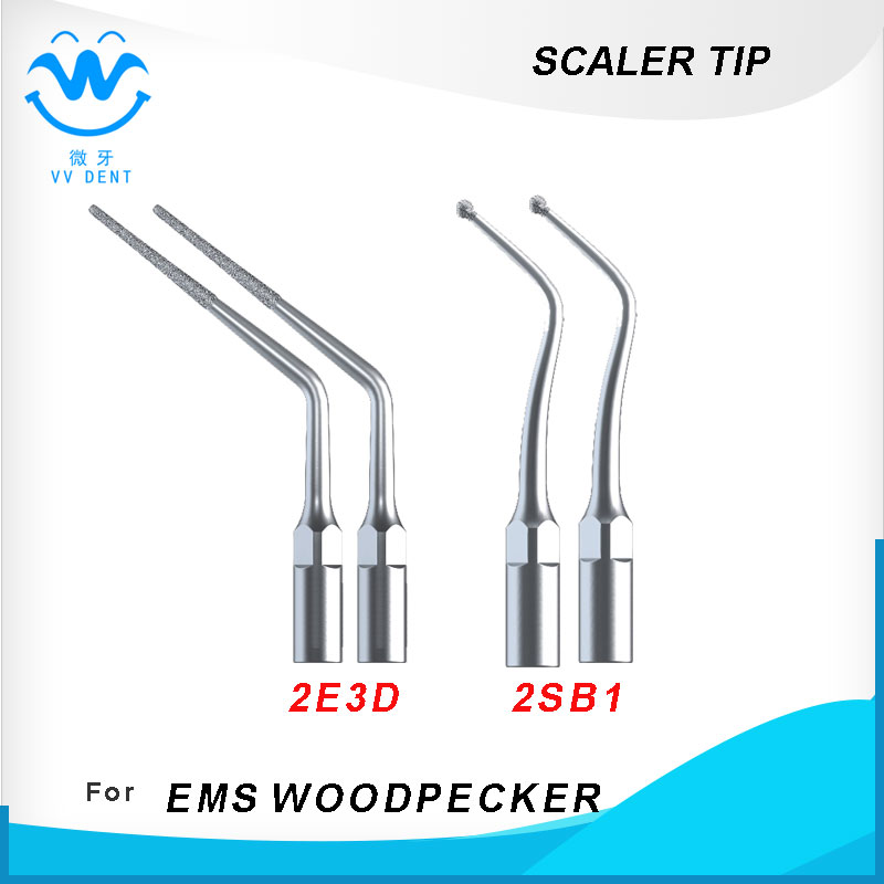 4pcs / lot dental scaler tipp und hohlraum prepartion tip E3D SB1 Für WOODPECKER EMS Ultraschall Dental Scaler