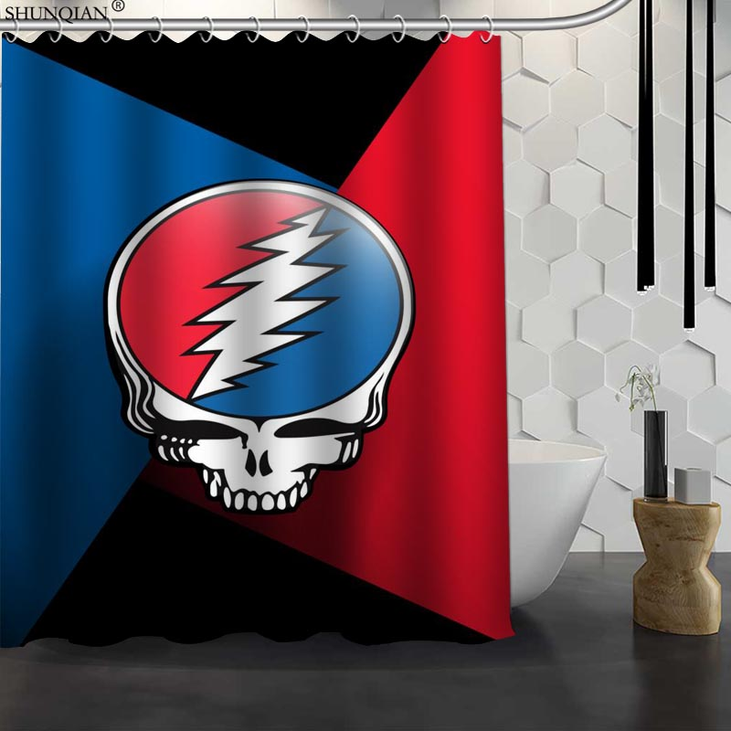 New Grateful Dead Custom Shower Curtain Waterproof Fabric Bath Curtain Polyester Fabric Bathroom Curtain 18-4.11