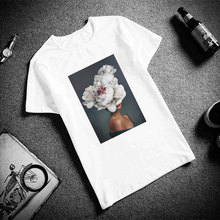 Womens Vintage Vogue T Shirt Flowers Feather Print T-shirts Harajuku Ulzzang Tumblr Kawaii Casual Tops & Tees Femme