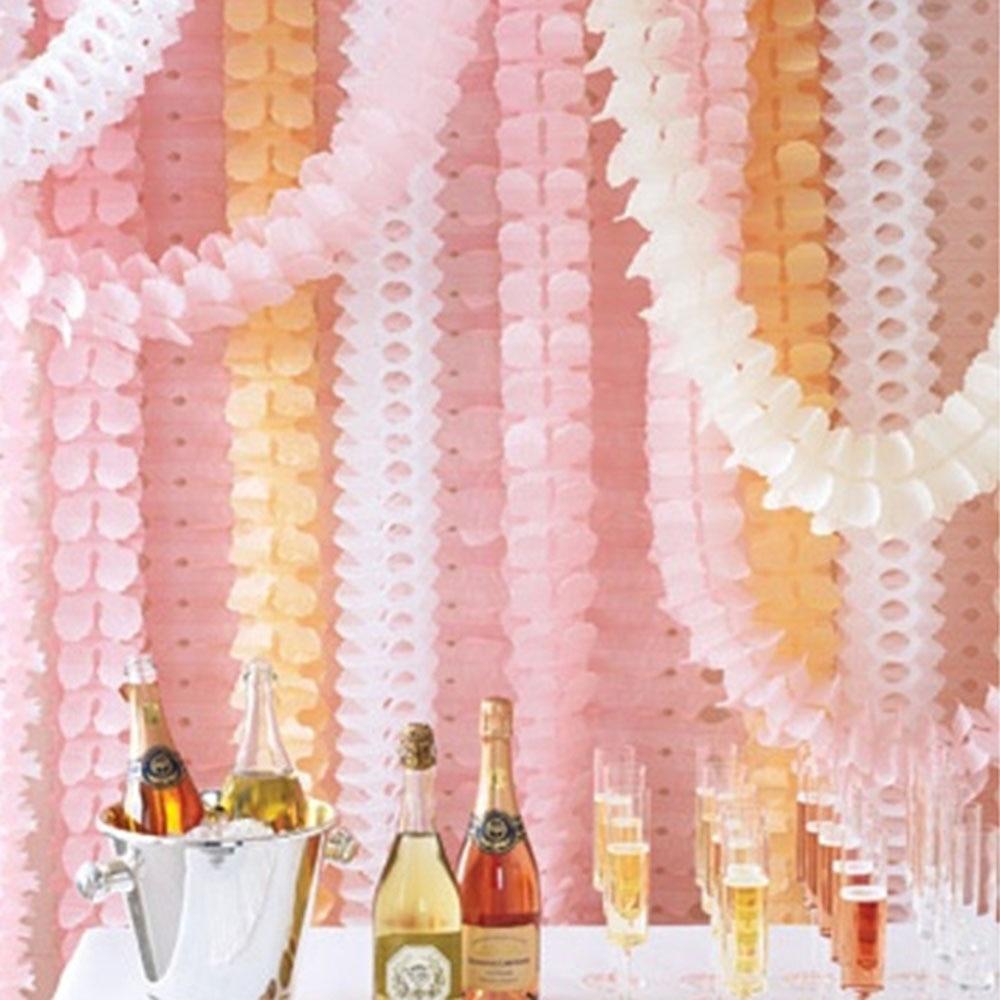 ✅3 M cuatro hojas de papel de trébol guirnaldas boda habitación de ...