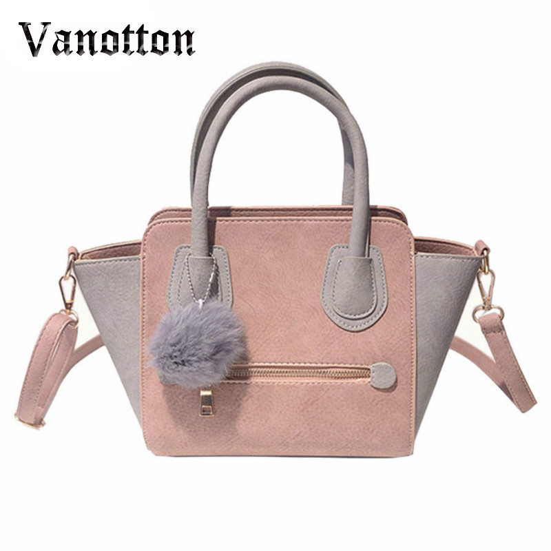 2018 Spring Smiley PU Leather Tote Bag Women Trapeze Fashion Designer  Handbags High Quality Ladies Bags Vintage Crossbody Bags 469f25f645