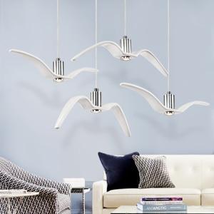 Image 4 - Nordic lampada a sospensione Gabbiano Disegno Lampadari Led Per Bar/Cucina Birds Lampadario A Soffitto Corpo Illuminante Luce Apparecchio