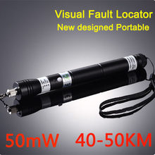 50mW 40~50KM NEW Handheld Visual Fault Locator VFL Red Laser Light Fiber Optic Cable Tester Optical Fiber Laser Pointer,VD-VFL50(China)