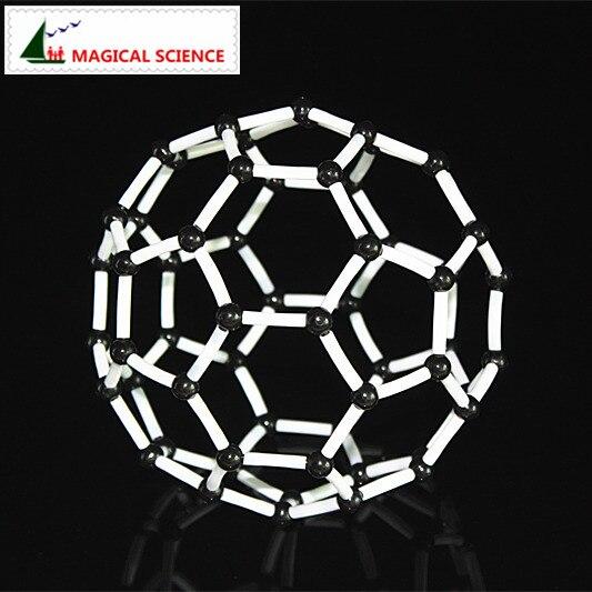 Vereinigt Großhandel 9mm Carbon 60 Modell C60 Kristall Struktur Modell Für Chemische Studenten Schule & Educational Supplies Teaching Resources