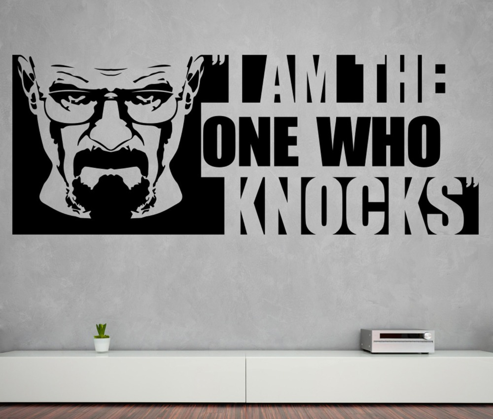 Heisenberg wall decal quotes i am the one who knocks vinyl wall heisenberg wall decal quotes i am the one who knocks vinyl wall stickers for breaking bad pattern home livingroom decor syy807 in wall stickers from home amipublicfo Choice Image