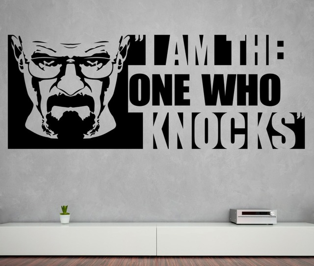 Heisenberg Wall Decal Quotes I Am The One Who Knocks Vinyl Wall