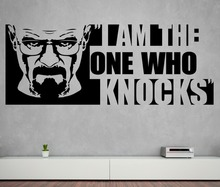 Heisenberg Wall Decal Quotes I Am The One Who Knocks Vinyl Wall Stickers For Breaking Bad Pattern Home Livingroom Decor SYY807