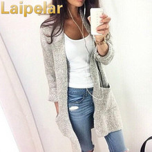 Laipelar 2018 Autumn Winter Fashion Women Long Sleeve loose knitting cardigan sweater Knitted Female Cardigan pull femme