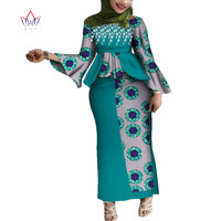 Plus Size 2019 Fashion African Sets for Women Dashik Private Custom Traditional African Clothing Sexy African Skirt Set WY4217