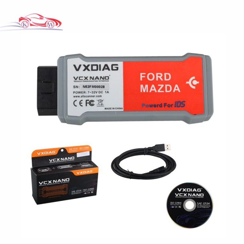VXDIAG VCX NANO for Ford/Mazda 2 in 1 for Ford IDS V100.01 for Mazda V99 Perfect Replacement for Ford VCM 2 Update by CD quality a for f ord vcm 2 diagnostic tool vcm ii ids vcm2 diagnostic scanner for f0rd vcm free shipping