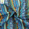 NEW Blue Floral African Cotton Linen Fabric Meter DIY Handmade Sewing Patchwork Fabric For Sofa Bags Dress 145*50CM M45