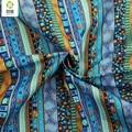 Novo tecido de linho de algodão floral azul africano metros diy handmade sacos de vestido de costura de retalhos de tecido para o sofá 145*50 cm m45