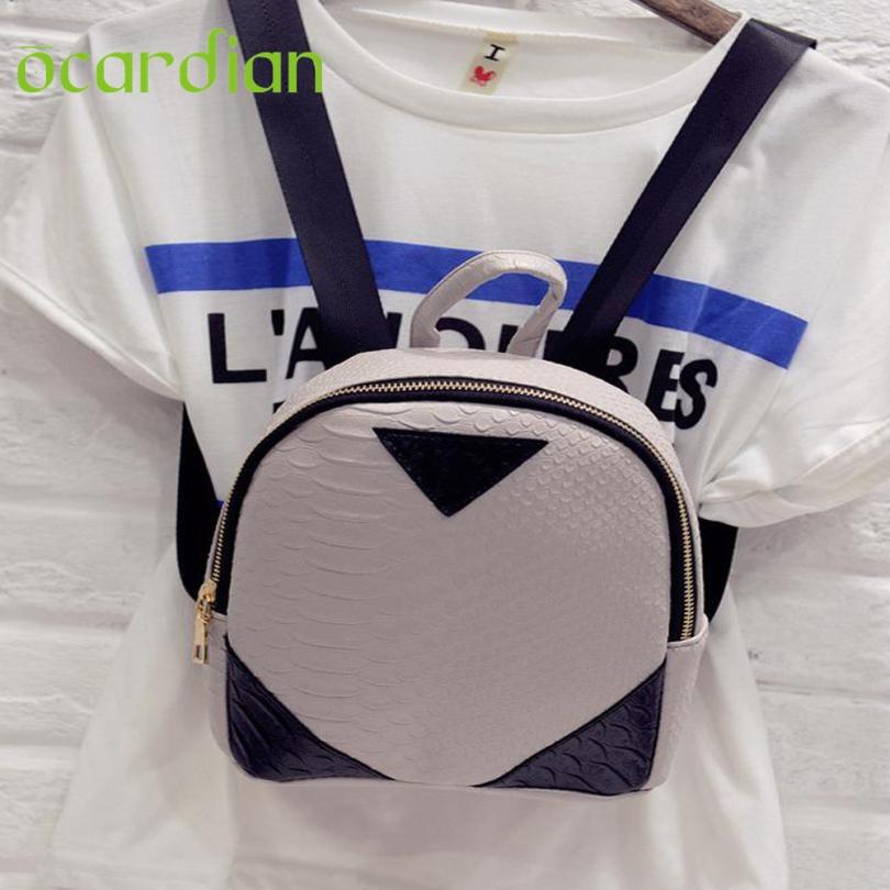 Women Backpack Top Quality New Arrivals Hot Canvas Rucksack concise Serpentine Backpack School Book Shoulder Bag mochila 17Mar06