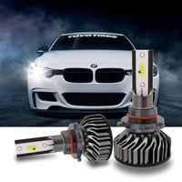 100x фар автомобиля мини H7 светодио дный H4 светодио дный лампа с зэс чип 60 Вт 8000LM 6500 К туман свет 12 В/24 В Авто H1 H11 9005 9006 лампы