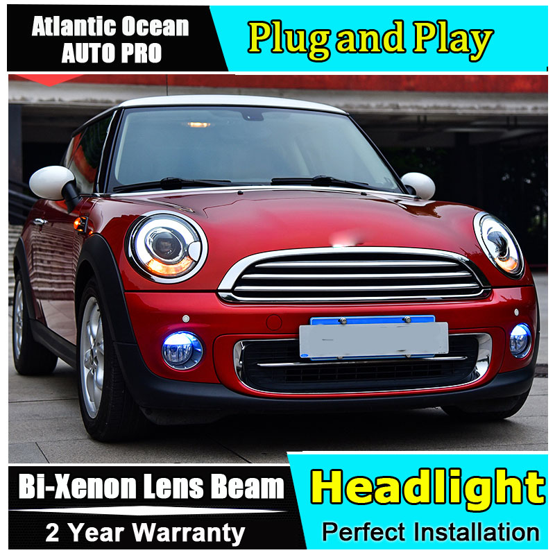 Auto Part Style LED Head Lamp for BMW mini R56 led headlights 2007-2013 FOR mini R56 H7 hid Bi-Xenon Lens low beam auto part style led head lamp for au di a3 led headlights 2014 2016 for au di a3 h7 hid bi xenon lens low beam