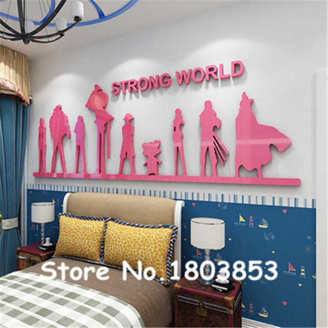 Online Shop One Piece 3D Sticker living room sofa Three-dimensional ...